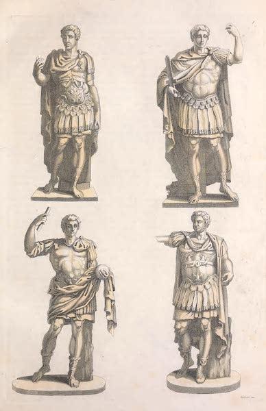 Le Costume Ancien et Moderne [Europe] Vol. 2 - VIII. Statues representant Jules Cesar, Auguste, Domitien et Caracalla (1820)