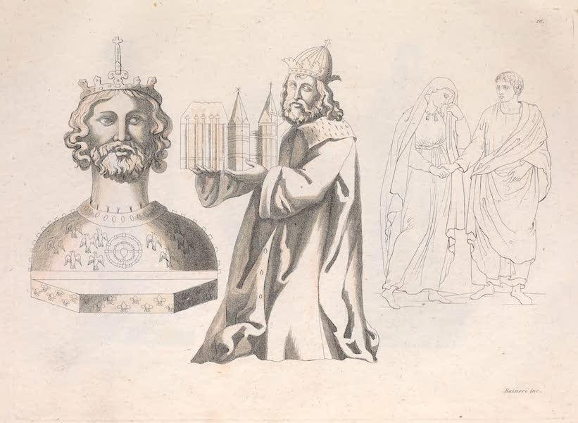 Le Costume Ancien et Moderne [Europe] Vol. 2 - X. Probus Prefet du Pretoire avec sa femme. Charlemagne represente comme Empereur des Romains (1820)