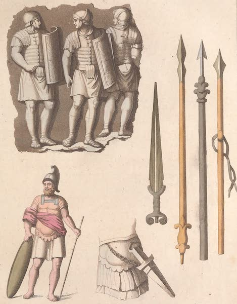 Le Costume Ancien et Moderne [Europe] Vol. 2 - XIII. Armes offensives (1820)