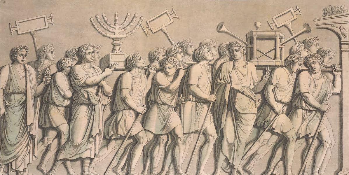 Le Costume Ancien et Moderne [Europe] Vol. 2 - XVIII. Emblemes et depouilles de la Judee conquise par Titus, portes en triomphe (1820)