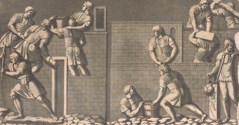 Le Costume Ancien et Moderne [Europe] Vol. 2 - XXI. Campement des Romains (1820)
