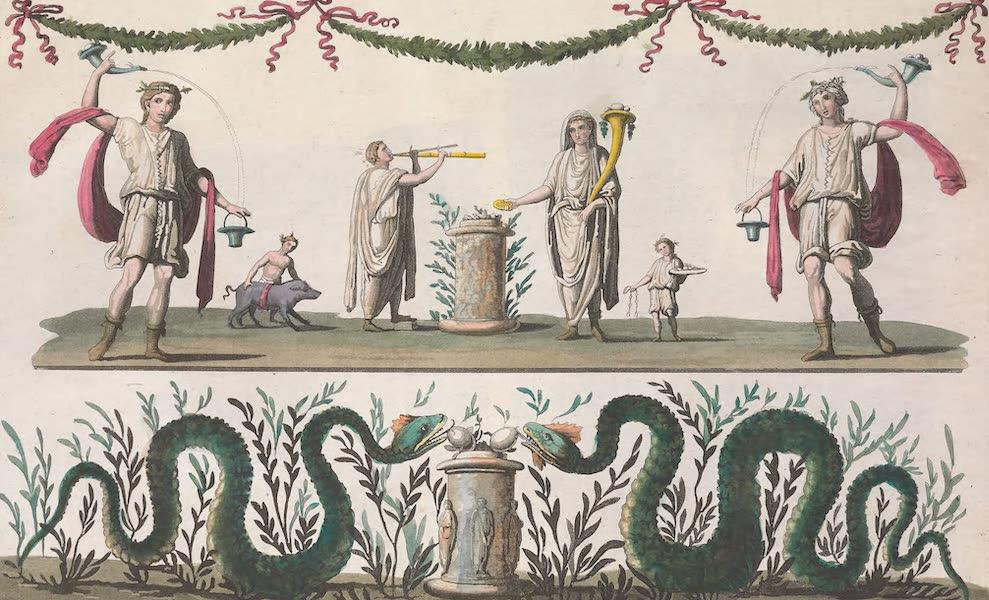 Le Costume Ancien et Moderne [Europe] Vol. 2 - XXVI. Lares pris d'une peinture d'Herculanum (1820)