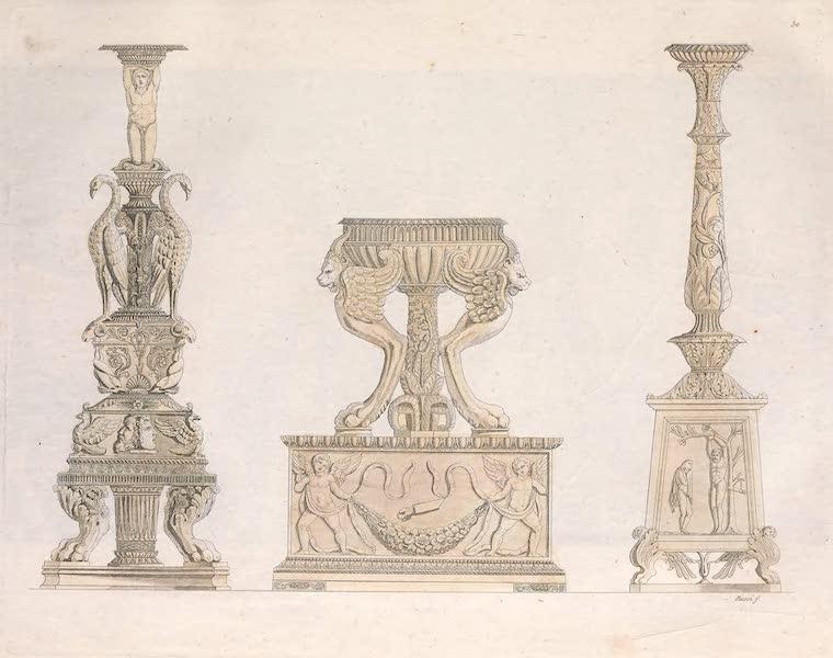 Le Costume Ancien et Moderne [Europe] Vol. 2 - XXX. Autels et candelabres (1820)