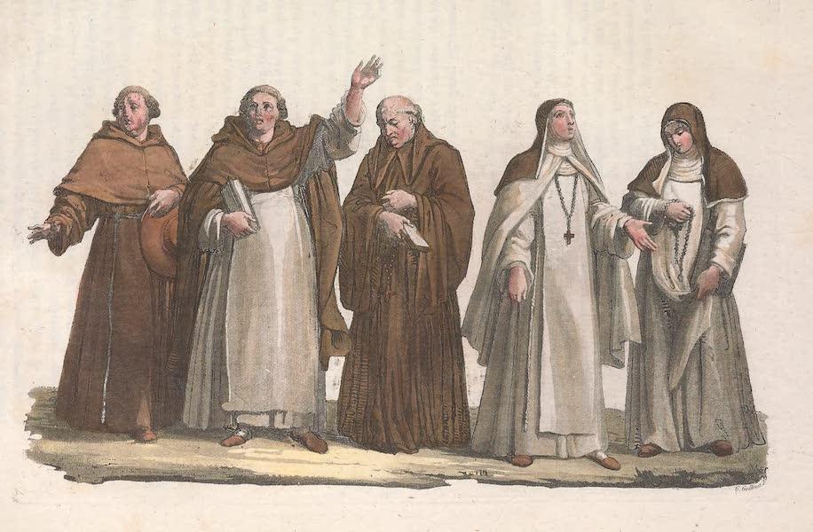Le Costume Ancien et Moderne [Europe] Vol. 2 - XXXIII. Moines (1820)