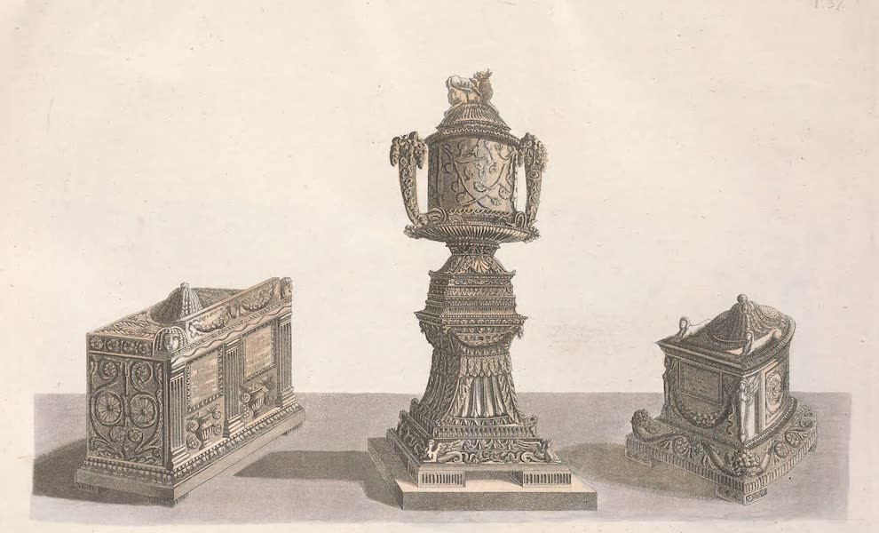 Le Costume Ancien et Moderne [Europe] Vol. 2 - XXXVII. Vases urnes cineraires (1820)