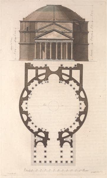 Le Costume Ancien et Moderne [Europe] Vol. 2 - XLV. Interieur et exterieur du Pantheon [I] (1820)