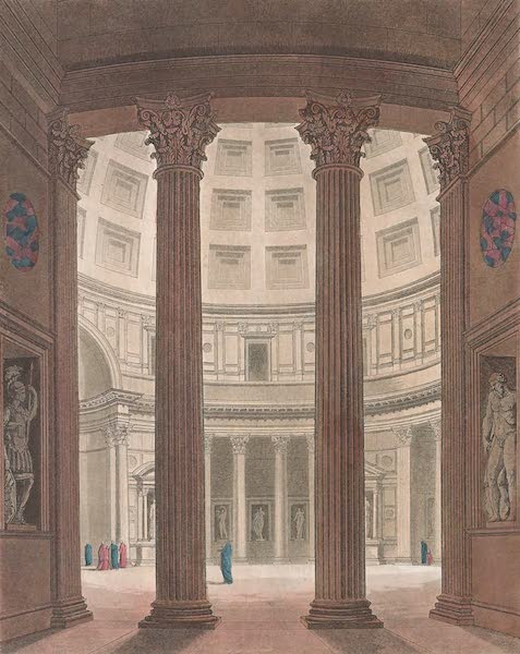 Le Costume Ancien et Moderne [Europe] Vol. 2 - XLVI. Interieur et exterieur du Pantheon [II] (1820)