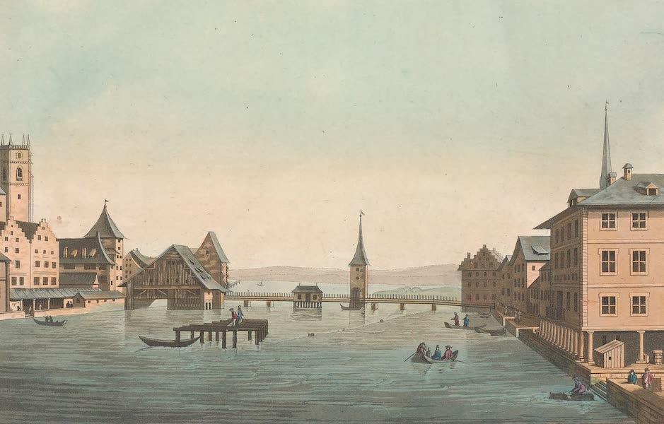 Le Costume Ancien et Moderne [Europe] Vol. 4 - I. Vue de l'interieur de la ville et du fond du lac de Zurich (1824)