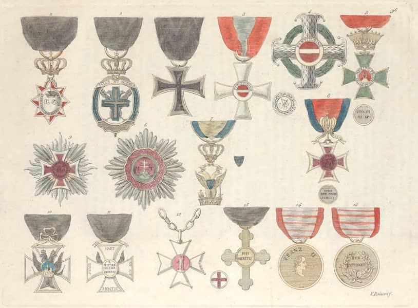 Le Costume Ancien et Moderne [Europe] Vol. 4 - XCVI. Ordres chevaleresques et autres marques d'honneur (1824)