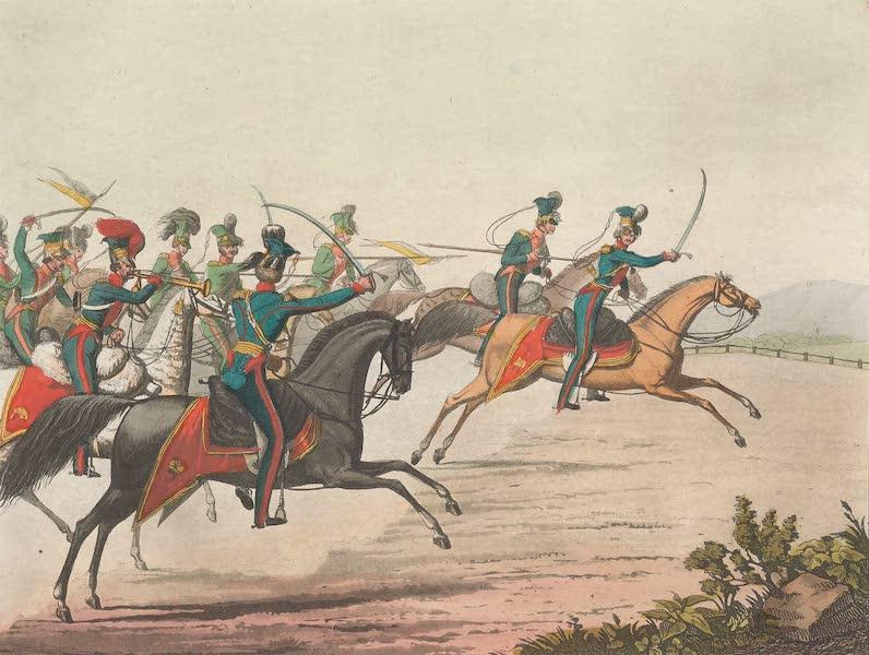Le Costume Ancien et Moderne [Europe] Vol. 4 - XCVII. Charge de Hulans (1824)