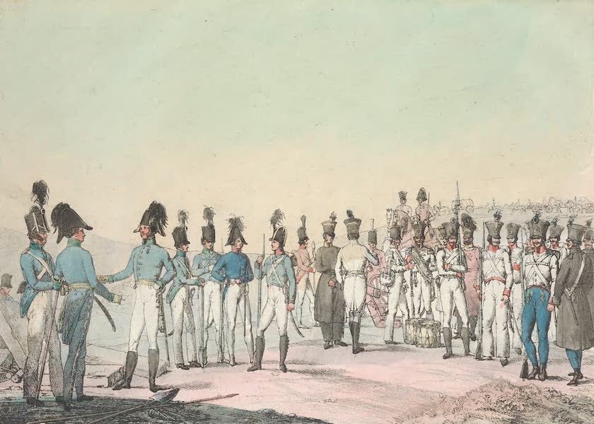 Le Costume Ancien et Moderne [Europe] Vol. 4 - XCVIII. Sapeurs, mineurs, pioniers pontoniers (1824)
