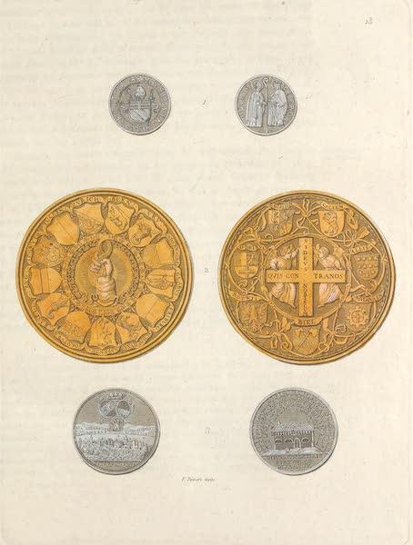 Le Costume Ancien et Moderne [Europe] Vol. 4 - XIII. Medailles representant les cantons (1824)