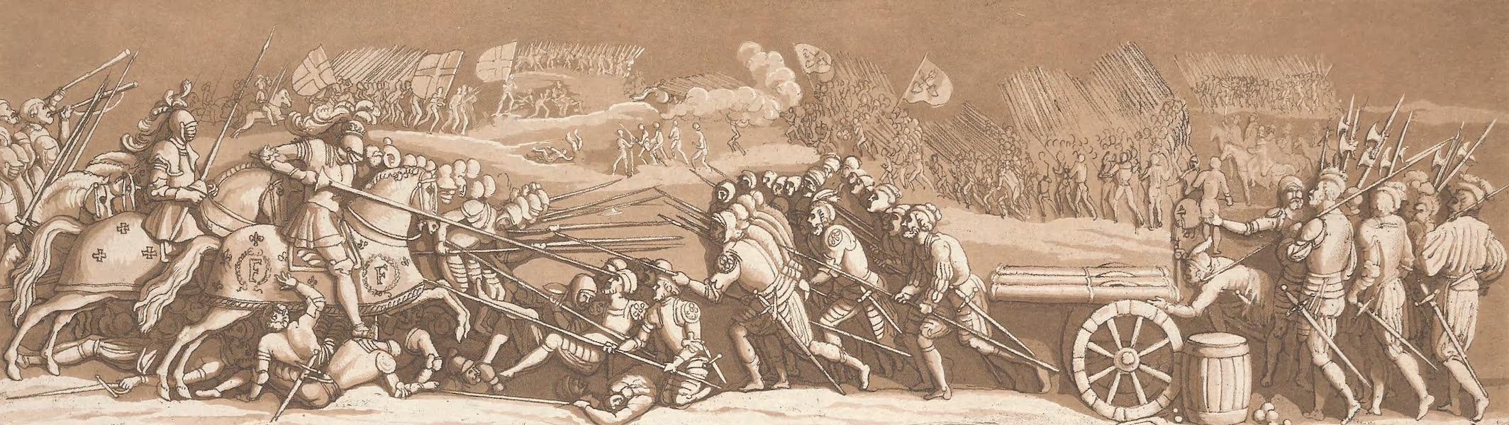 Le Costume Ancien et Moderne [Europe] Vol. 4 - XV. Bas-relief de Primaticcio representant la bataille de Melegnano (1824)