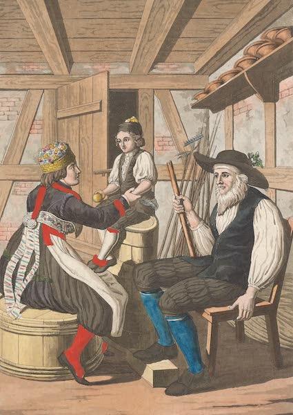 Le Costume Ancien et Moderne [Europe] Vol. 4 - XVIII. Confirmation des enfans dans l'Entlibuc (1824)
