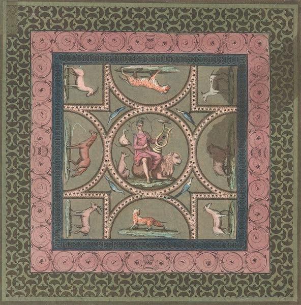 Le Costume Ancien et Moderne [Europe] Vol. 4 - XXII. Ancienne mosaique decouverte a Yverdun (1824)