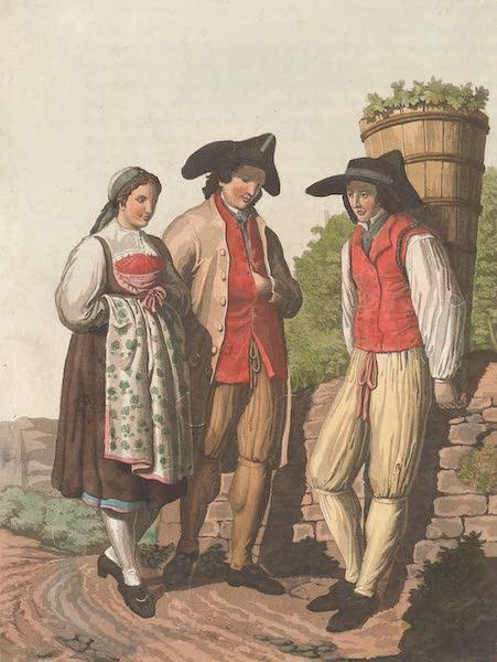 Le Costume Ancien et Moderne [Europe] Vol. 4 - XXVI. Paysans du canton de Zurich (1824)