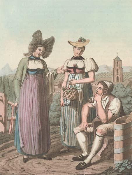 Le Costume Ancien et Moderne [Europe] Vol. 4 - XXVII. Habillement des Bernoises (1824)