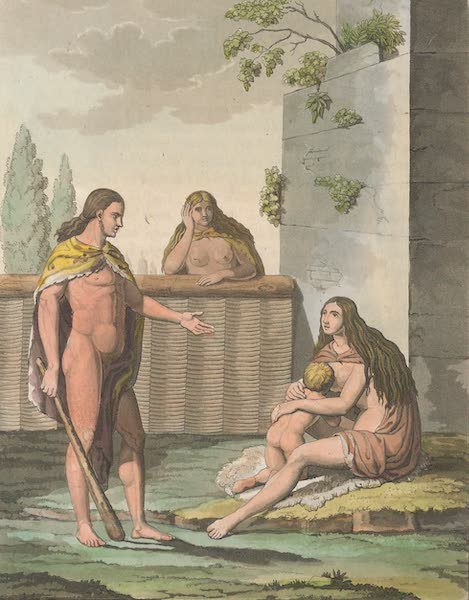 Le Costume Ancien et Moderne [Europe] Vol. 4 - XXXV. Representation d'une famille d'anciens Germains (1824)