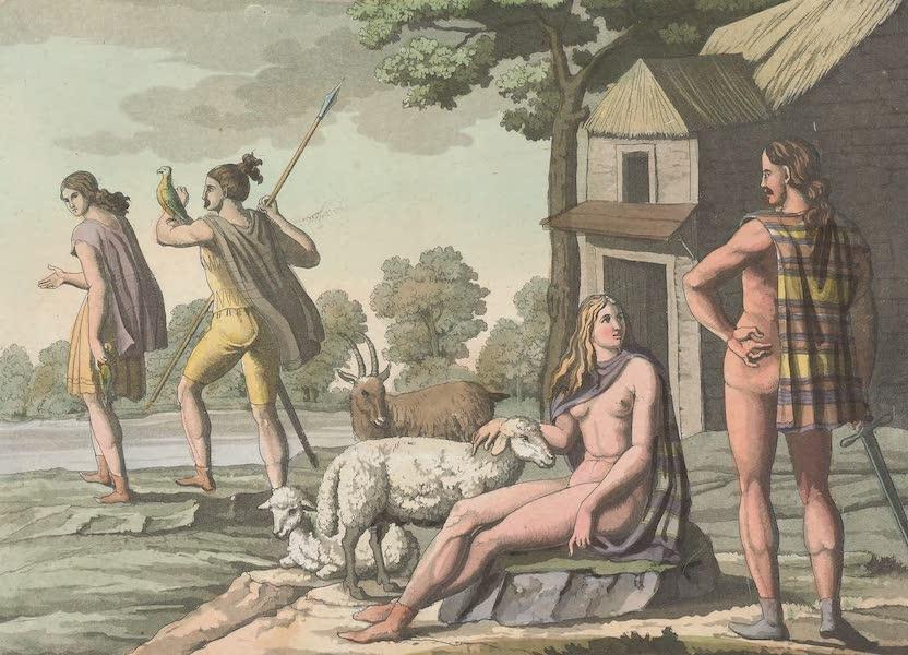 Le Costume Ancien et Moderne [Europe] Vol. 4 - XL. Bergers et chasseurs germains (1824)