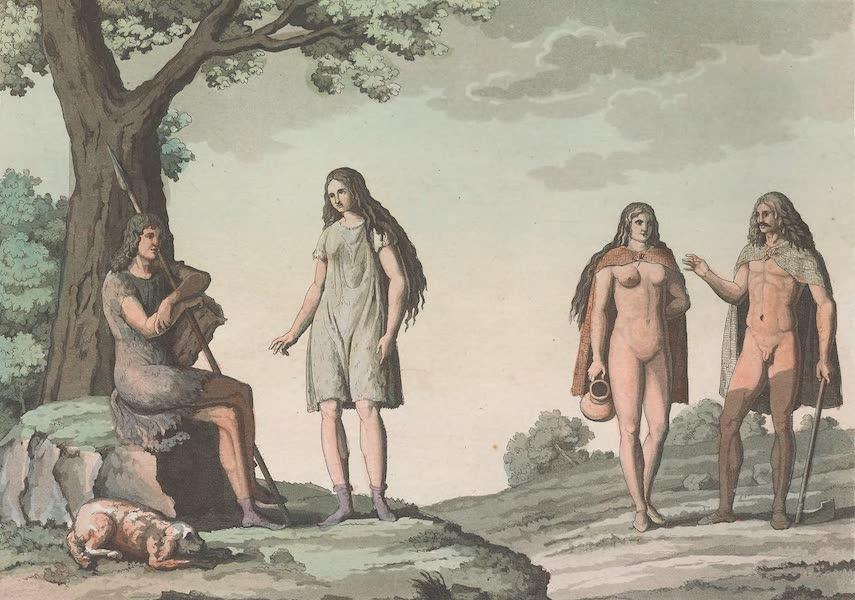 Le Costume Ancien et Moderne [Europe] Vol. 4 - XLI. Autres habillemens des anciens Germains (1824)