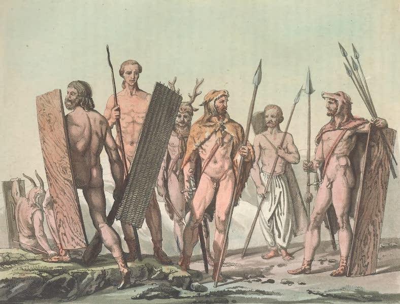 Le Costume Ancien et Moderne [Europe] Vol. 4 - XLIII. Guerriers germains (1824)