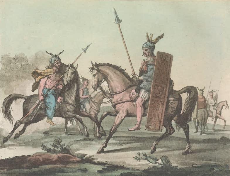 Le Costume Ancien et Moderne [Europe] Vol. 4 - XLV. Guerriers germains a cheval (1824)