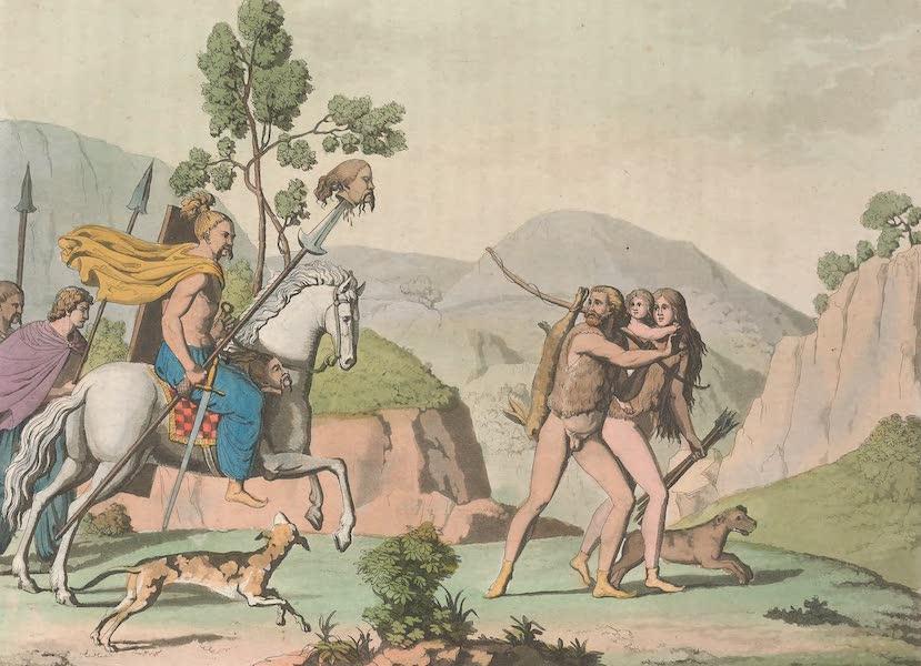 Le Costume Ancien et Moderne [Europe] Vol. 4 - XLVI.<sup>*</sup> Chasseurs et guerriers germains (1824)