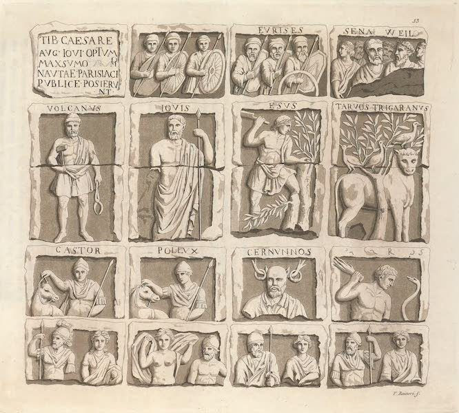 Le Costume Ancien et Moderne [Europe] Vol. 4 - LIII. Monument des bateliers de Paris (1824)