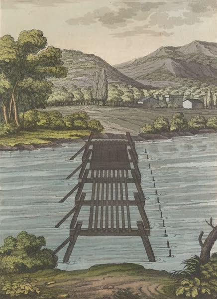 Le Costume Ancien et Moderne [Europe] Vol. 4 - LX. Pont jete sur le Rhin, d'apres le dessin de Palladio (1824)