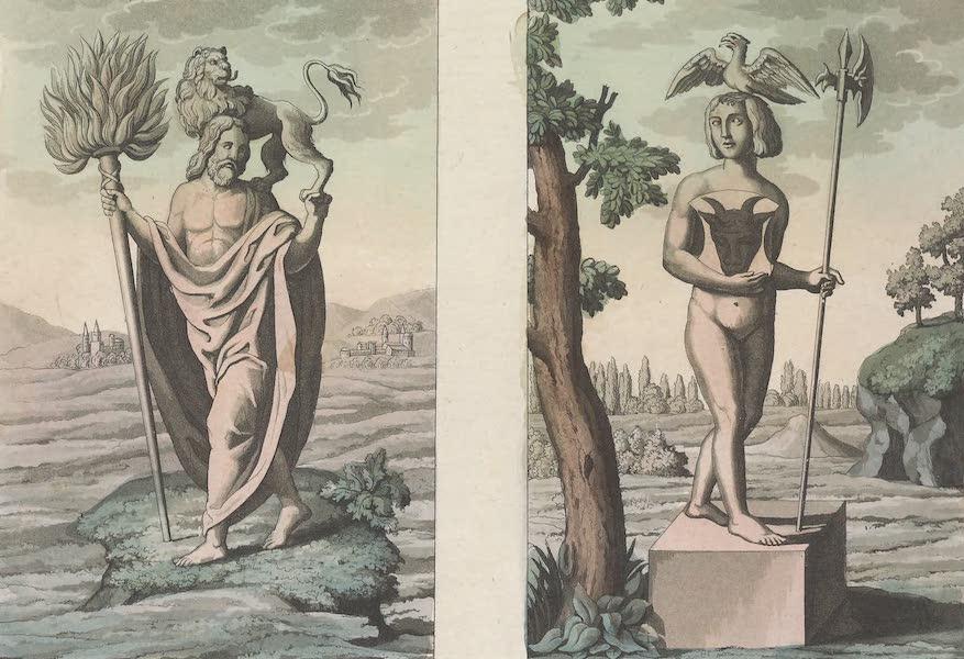 Le Costume Ancien et Moderne [Europe] Vol. 4 - LXII. No. 1, Flins ou Flinna : No. 2, Radagaste (1824)