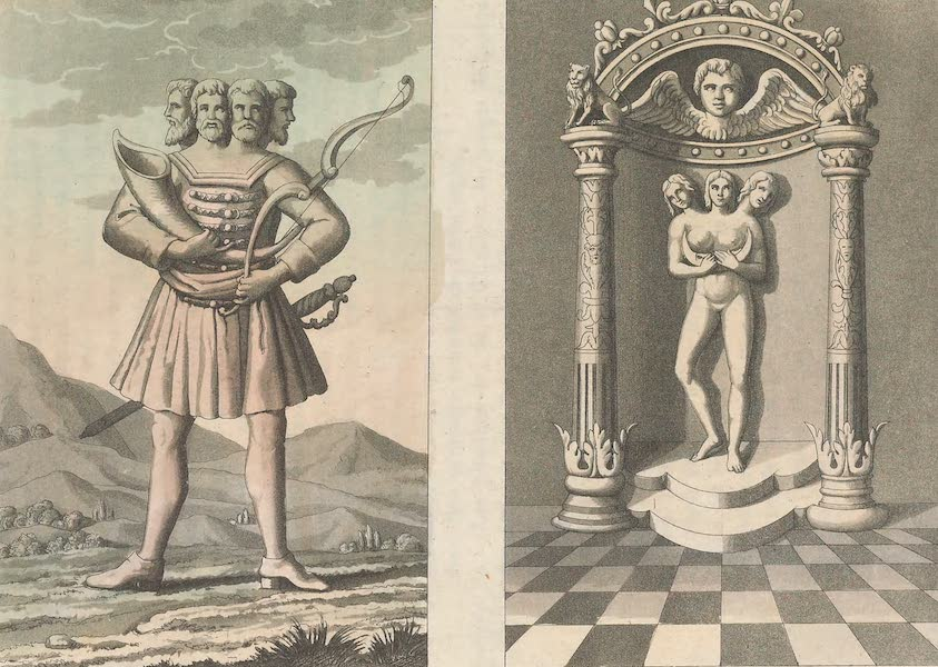Le Costume Ancien et Moderne [Europe] Vol. 4 - LXIII. No. 1, Suantevit : No. 2, Trigla (1824)