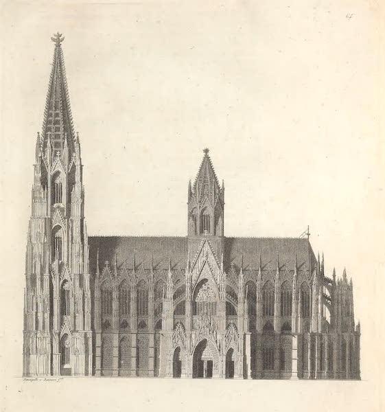 LXIV. Cote de la cathedrale de Cologne, dont la construction a ete commencee au XII<sup>e</sup>. siecle