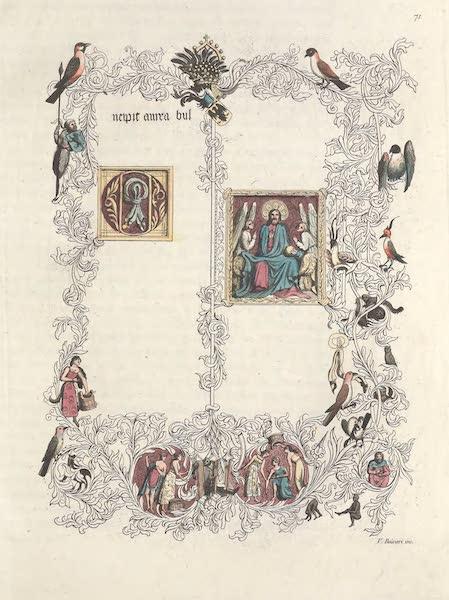 Le Costume Ancien et Moderne [Europe] Vol. 4 - LXXI. Premiere page du code de la Bulle d'or existant a Vienne, et enrichi de miniatures (1824)