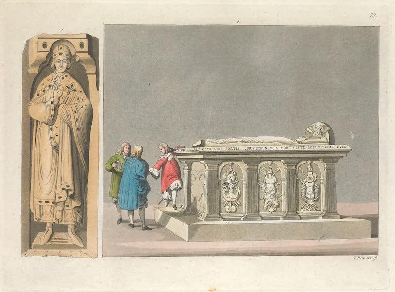 LXXIX. No. 1., Tombeau de Witichinde, chef ou roi des Saxons : No. 2. couvercle de ce tombeau avec le portrait de ce chef