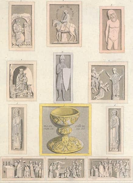 Le Costume Ancien et Moderne [Europe] Vol. 4 - LXXXI. Bas-reliefs, statues et autres ouvrages de sculpture, de plastique ou de ciselure, executes en Allemagne depuis le VII.<sup>e</sup> jusqu'au VIII.<sup>e</sup> siecle (1824)