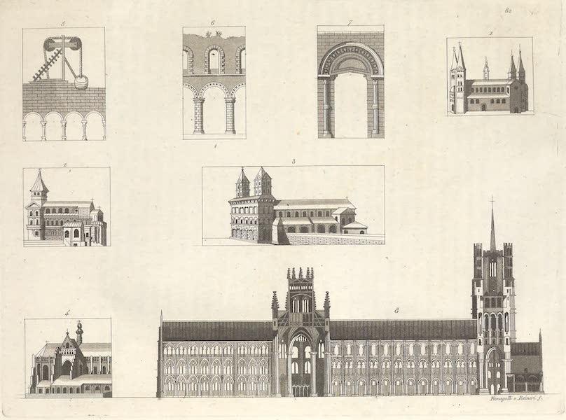 Le Costume Ancien et Moderne [Europe] Vol. 4 - LXXXII. Architecture de l'Allemagne ou de style allemand des tems du moyen age (1824)