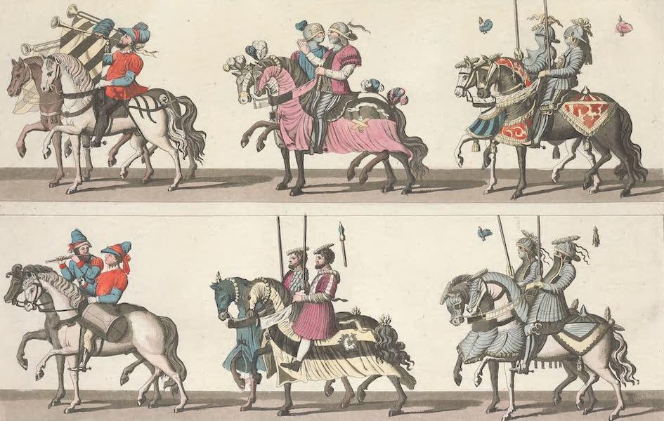 Le Costume Ancien et Moderne [Europe] Vol. 4 - LXXXIII. Peintures executees dans le palais de Laxenbourg du tems de Maximilien I.<sup>er</sup>, et qui offrent l'image d'un tournois (1824)