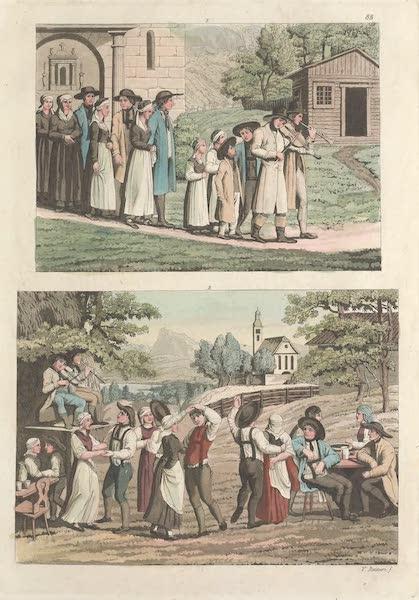 Le Costume Ancien et Moderne [Europe] Vol. 4 - LXXXVII. Descente dans les mines de Hallein (1824)
