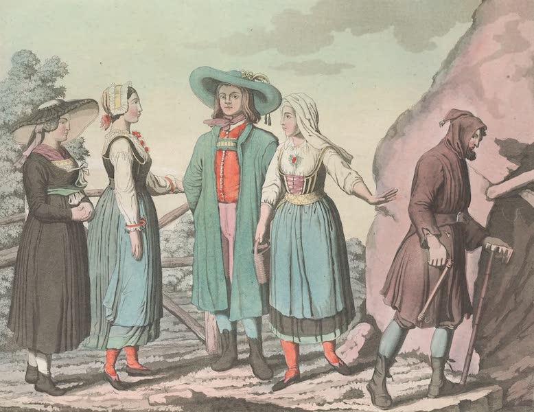 Le Costume Ancien et Moderne [Europe] Vol. 4 - XC. Habillement des paysans de la Styrie et de la Carniole (1824)