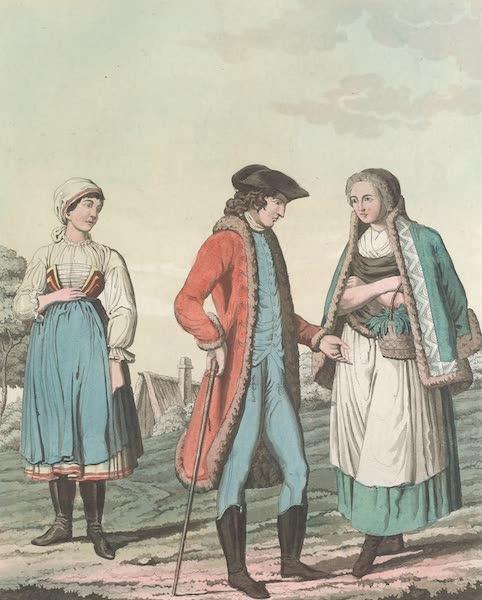 Le Costume Ancien et Moderne [Europe] Vol. 4 - XCI. Habillement des paysans et d'autres personnes de differens etats de la Moravie et de la Saxe (1824)