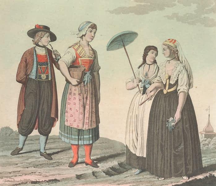 Le Costume Ancien et Moderne [Europe] Vol. 4 - XCII. Habillemens divers de la Boheme et de la Saxe (1824)