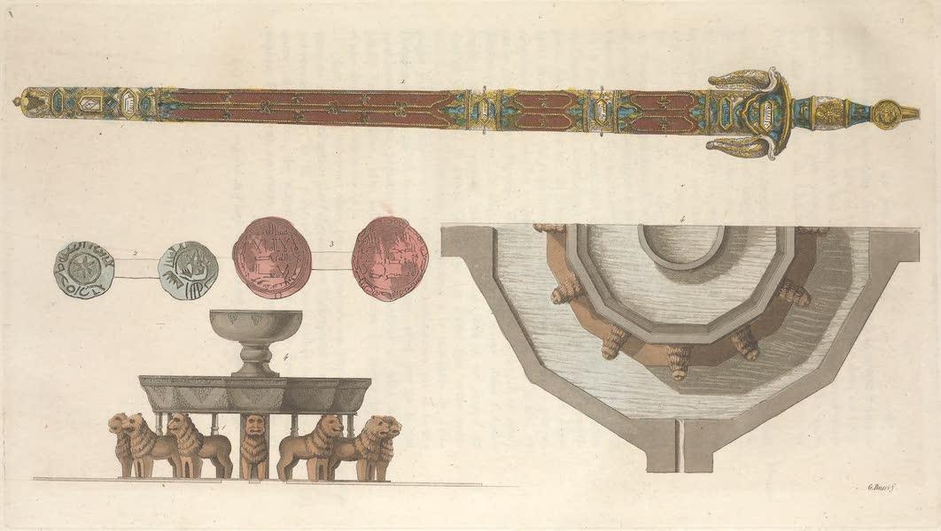 Le Costume Ancien et Moderne [Europe] Vol. 5 - II. Monnaies Arabes cimetere Arabe, Fontaine des lions (1825)