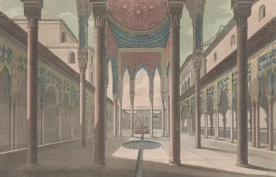 Le Costume Ancien et Moderne [Europe] Vol. 5 - VI. Cour des lions dans l'Alhambra  (1825)