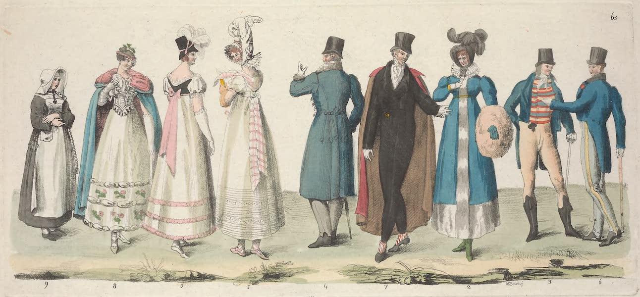 Le Costume Ancien et Moderne [Europe] Vol. 5 - LXV. Deux dames, l'une en habit d'ete, l'autre en habit d'hiver (1825)