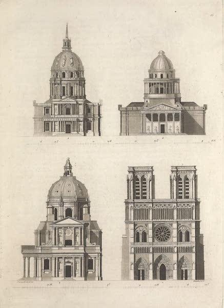 Le Costume Ancien et Moderne [Europe] Vol. 5 - LXVI. Principales eglises de Paris (1825)
