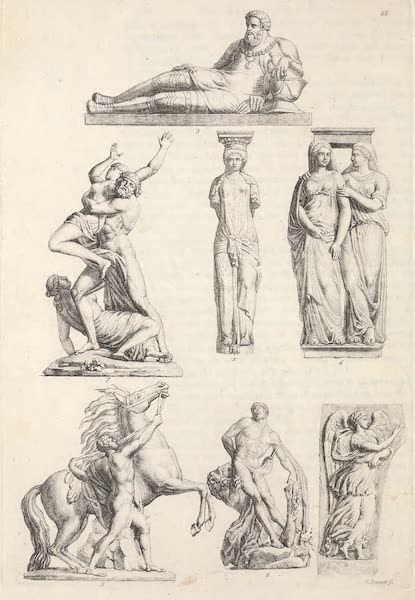 Le Costume Ancien et Moderne [Europe] Vol. 5 - LXVIII. Monumens de la sculpture en France (1825)