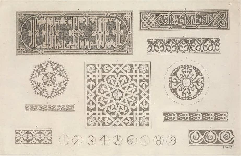 Le Costume Ancien et Moderne [Europe] Vol. 5 - IX. Inscriptions et ornemens Arabes (1825)