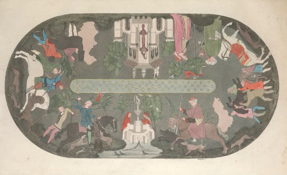 Le Costume Ancien et Moderne [Europe] Vol. 5 - XI. Joute, ou chasse Arabe (1825)