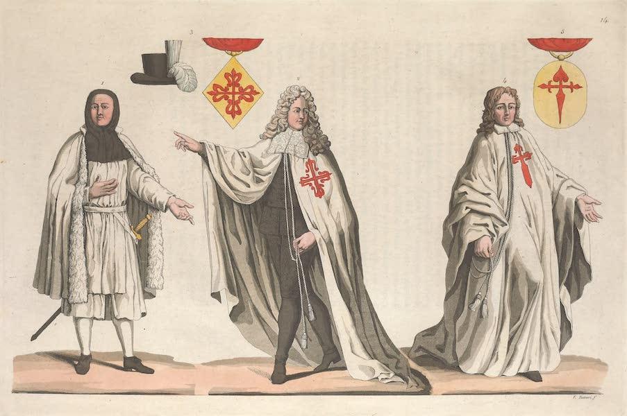Le Costume Ancien et Moderne [Europe] Vol. 5 - XIV. Ordres chevaleresques de Calatrava et de St. Jacques etc. (1825)