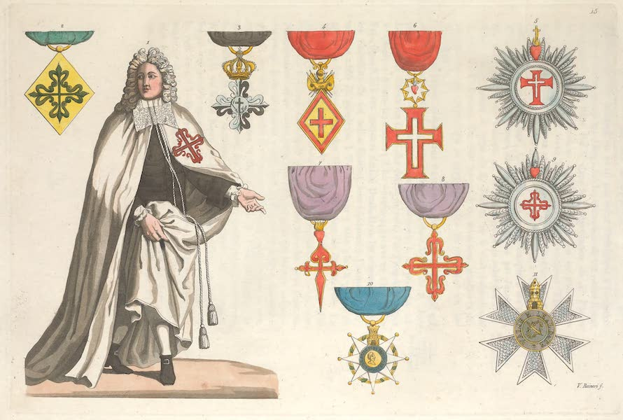 Le Costume Ancien et Moderne [Europe] Vol. 5 - XV. Ordres chevaleresques d'Alcantara, du Christ etc.  (1825)